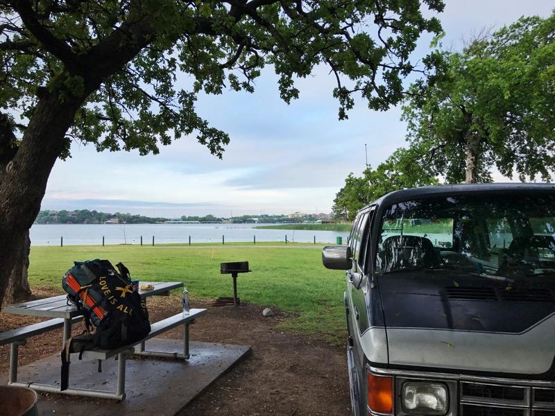 Campsite At DeCordova Bend Park