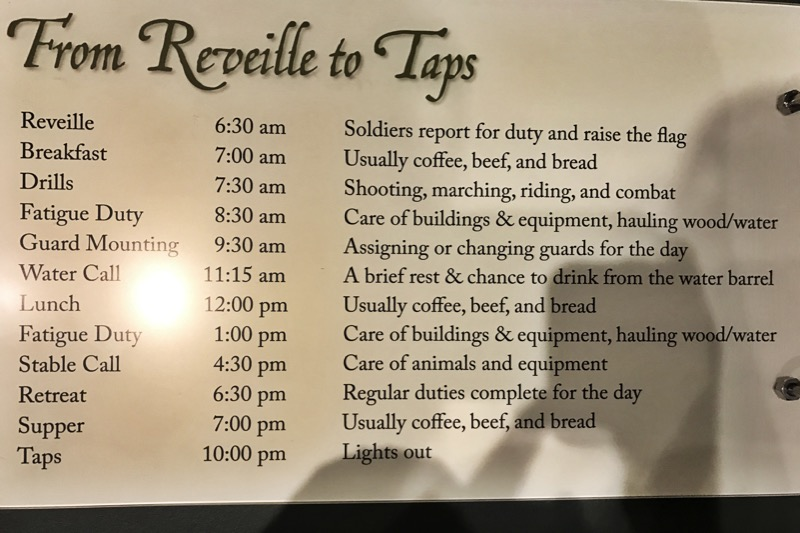Daily Schedule At Fort Griffin