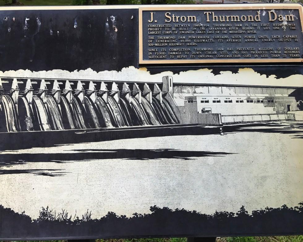 J. Strom Thurmond Dam Sign