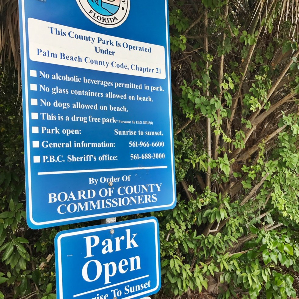 Ocean Ridge Hammock Park Rules