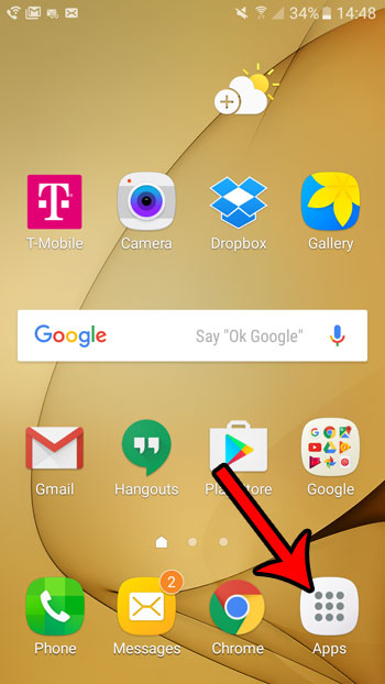 open android marshmallow apps folder