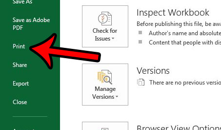 stop printing extra pages with one column in excel 2013
