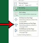 how to print all columns on one page in excel 2013