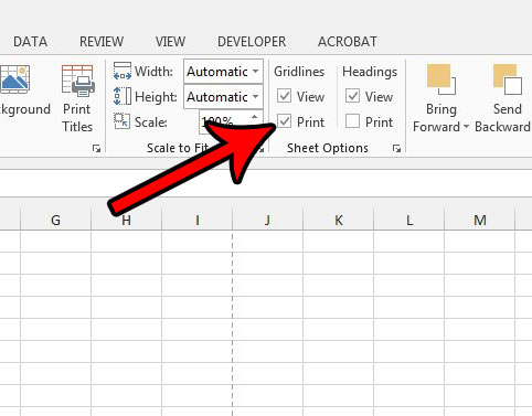 how to print gridlines in excel 2013