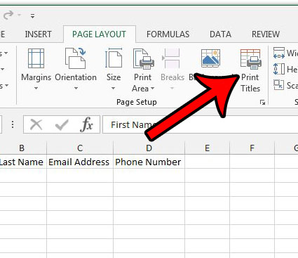 how to automatically print the same row at the top of every page in excel