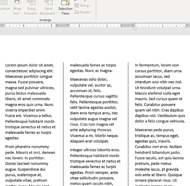 how to put lines between columns in word