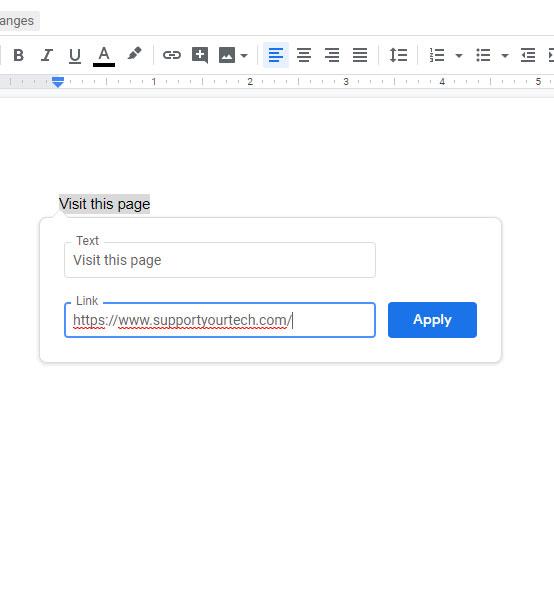 how to hyperlink in Google Docs