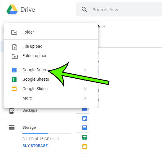 how to create a new blank document in Google Docs