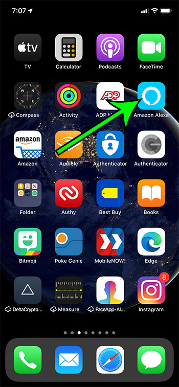 open the Alexa app