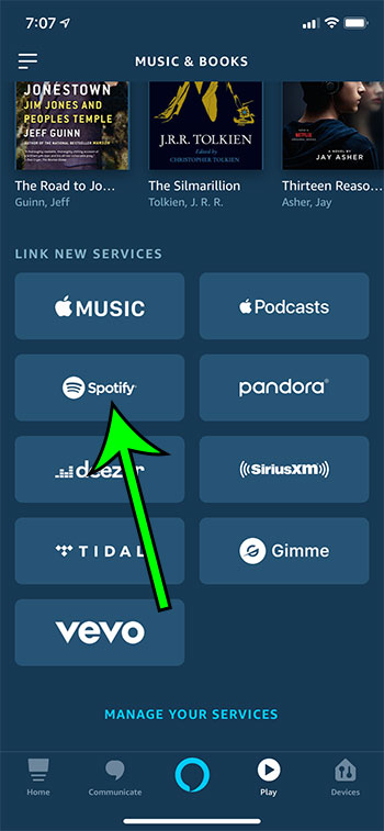 how to link your Spotify account with Amazon Alexa