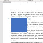 how to make a square in Microsoft Word 2016