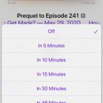 how to set a sleep timer in the iPhone Podcasts app