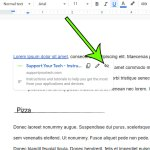 how to delete a link in Google Docs