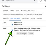 how to hide the Meet section in Gmail