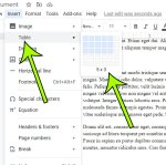 how to add a table in Google Docs