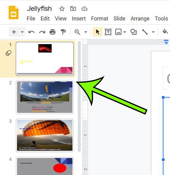 choose the slide
