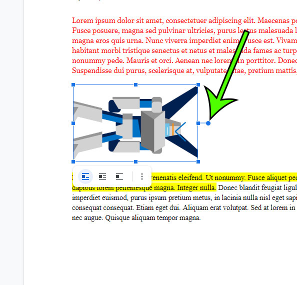 how to rotate a picture in Google Docs