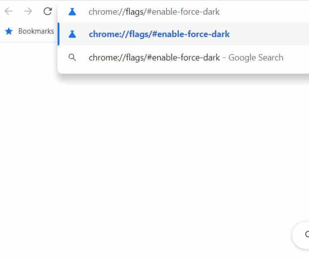 enter the Chrome flag command