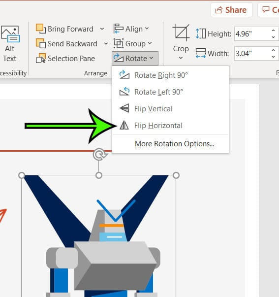 how to mirror image Powerpoint