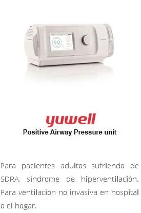 yuwell positive airway pressure unit