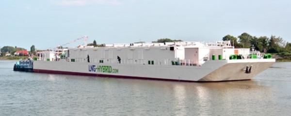 AIDA LNG Hybrid Barge con i suoi 7 gruppi elettrogeni può erogare 11 MW