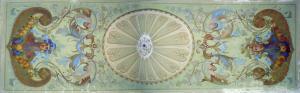 Uno dei bellissimi affreschi di Villa Ratto
