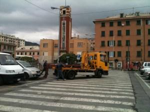 Rimozione di alcune autovetture per l'inizio dei lavori