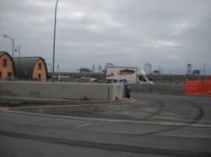 La nuova rotonda alla foce del Rio San Pietro