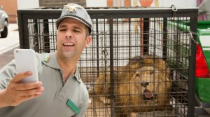 selfie col leone