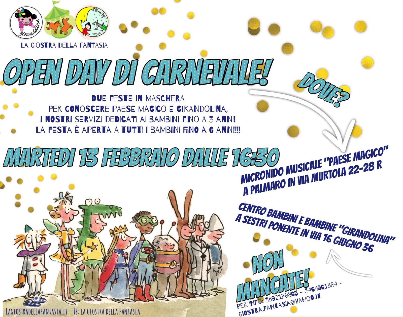 Open day di carnevale