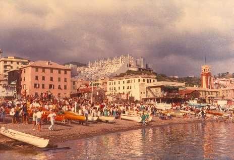 Evento Speranza sulla spiaggia di Pra' – Anni '80