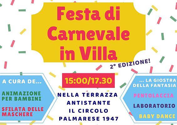 Festa di Carnevale in Villa e