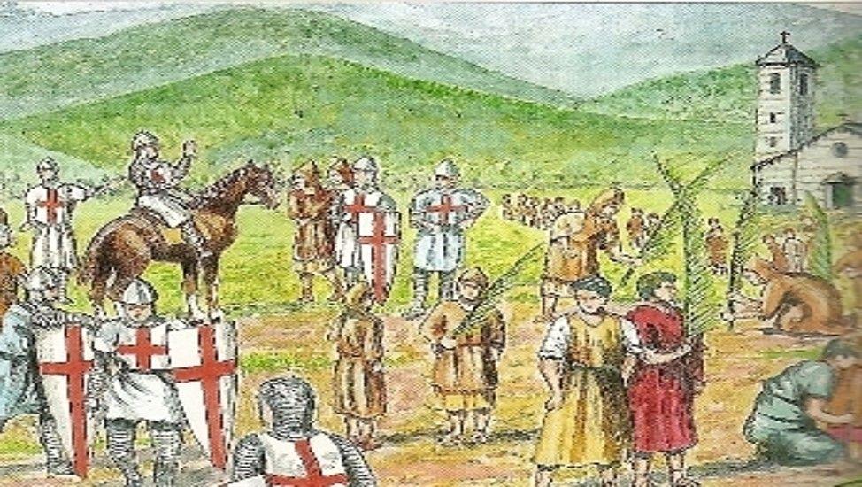 I Crociati di Capitan Decotto portano il basilico dalla Palestina a Pra'