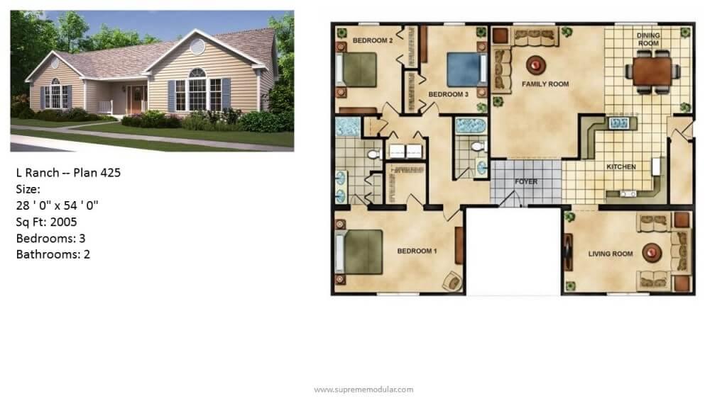 Modular Homes By Supreme Modular Modular Home Ranch Plans