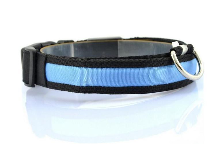 LED Nylon Night Safety Dog Collar