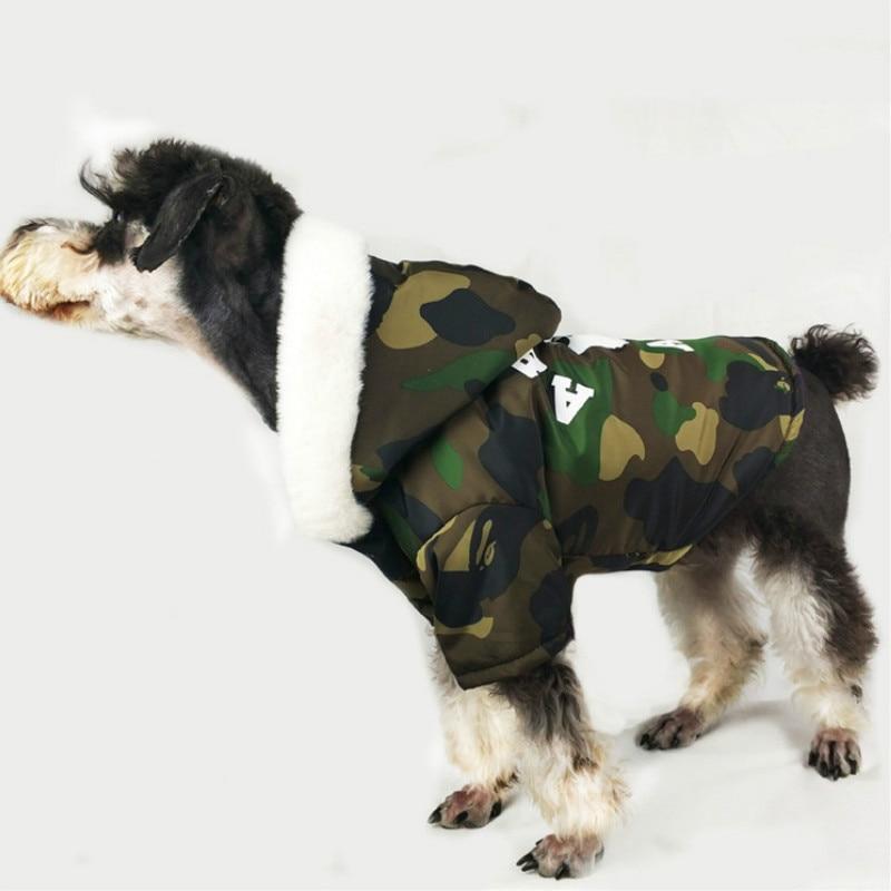 Bathing Pup Reversible Camo Dog Coat