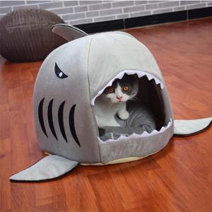 Pup Shark Cave Dog Bed