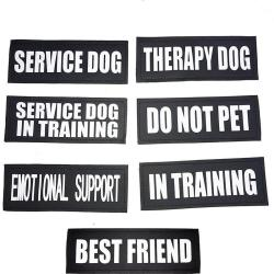 No Pull Dog Harness ID Patches