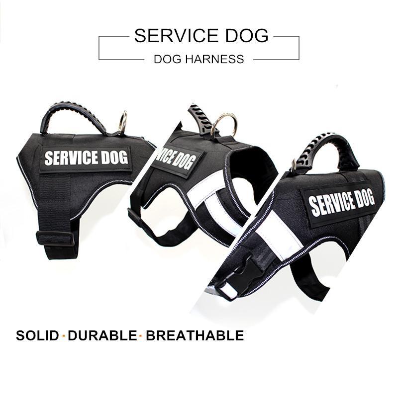 Reflective Service Dog Harness w/ Handle