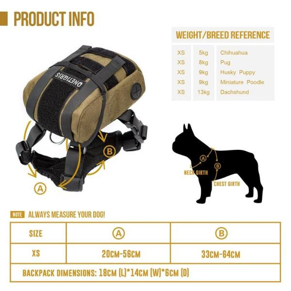 OneTigris K9 Dog Backpack