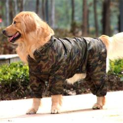 Pawtek Camo Dog Raincoat
