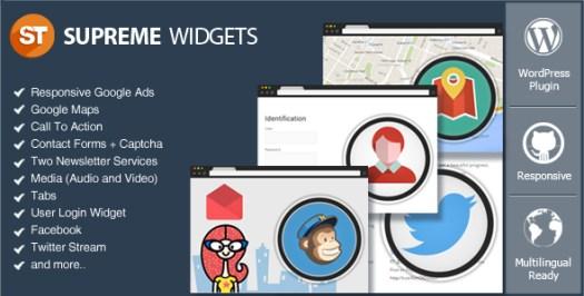 Supreme Widgets Social Marketing WordPress Plugin