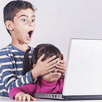 Children accessing pornography Image