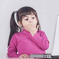Children accessing inappropriate material Image
