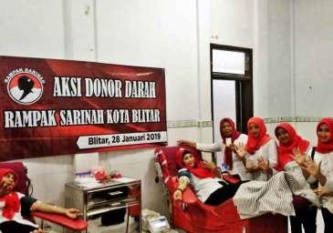 Rampak Sarinah Kota Blitar Gelar Donor Darah