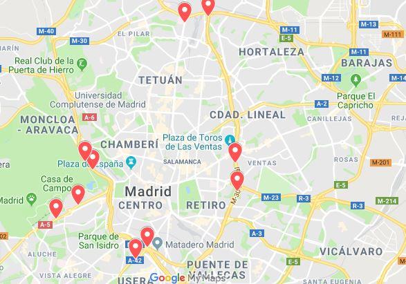 Mapa de radares de Madrid. Radares que más multan