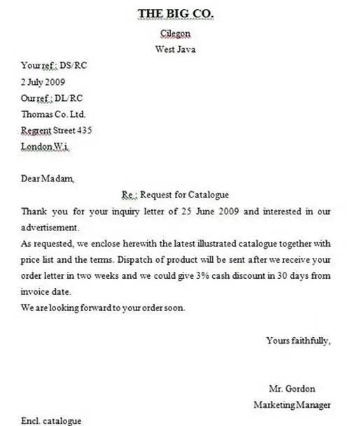 2. Contoh Surat Pesanan Dalam Bahasa Inggris