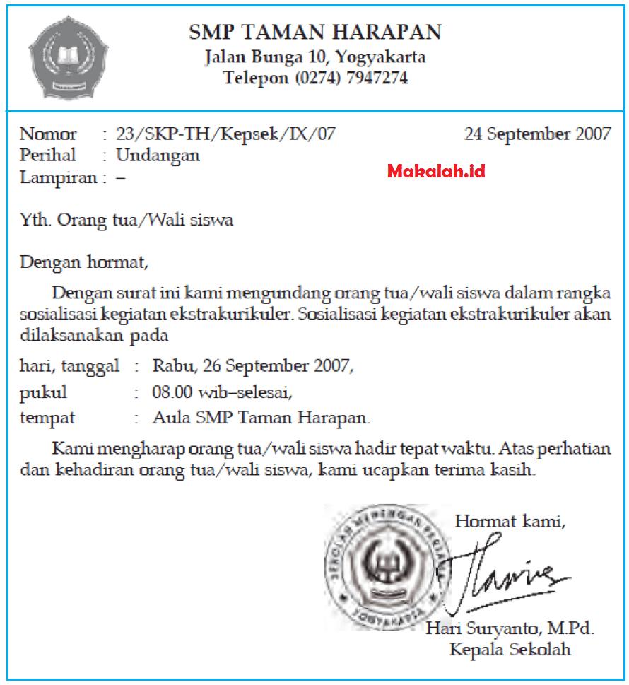 10. Contoh Surat Resmi