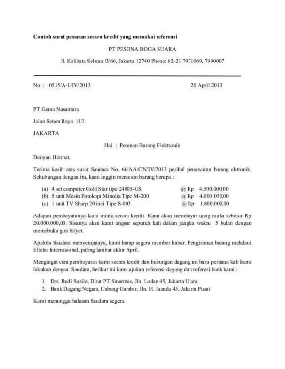 12. Contoh Surat Masuk Dan Surat Keluar Penawaran Barang