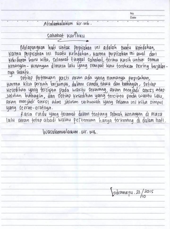 5. Contoh Surat Untuk Sahabat Pena